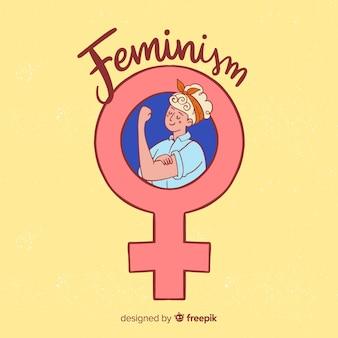 Feminisme concept achtergrond