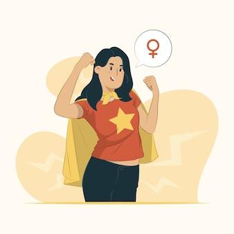 Feministische concept illustratie