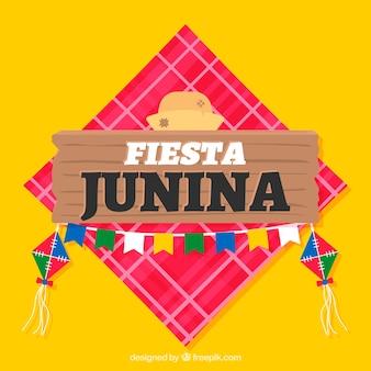 Festa junina achtergrond in vlakke stijl