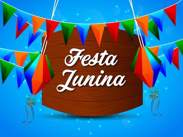 Festa junina achtergrond met element