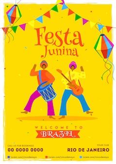 Festa junina achtergrond.