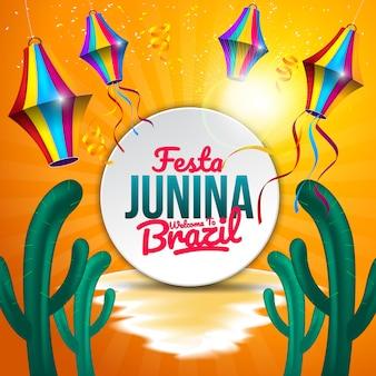 Festa junina-achtergrond