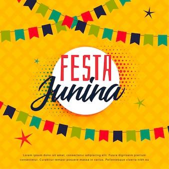 Festa junina braziliaanse groetsjabloon