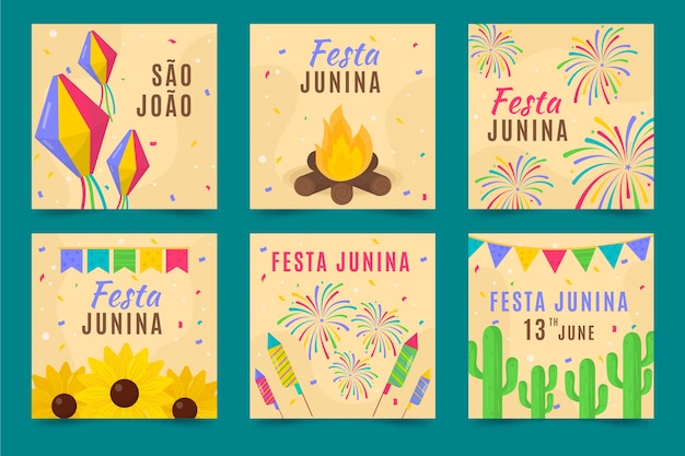 Festa junina card collectie concept