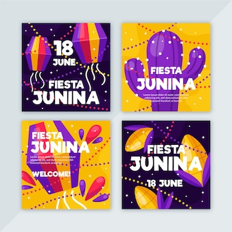 Festa junina card collection template thema