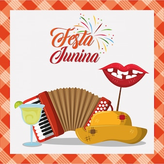 Festa junina concept cartoon