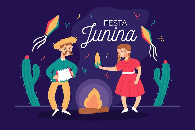Festa junina concept