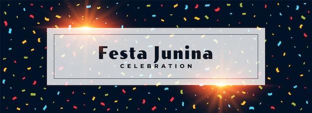 Festa junina confetti-ontwerp