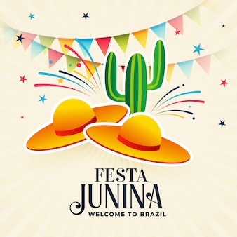 Festa junina decoratieve achtergrond