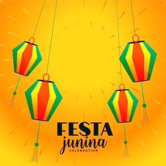Festa junina decoratieve hangende lampen festival achtergrond