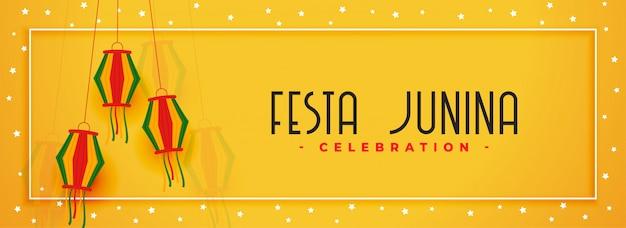 Festa junina dorp festival viering
