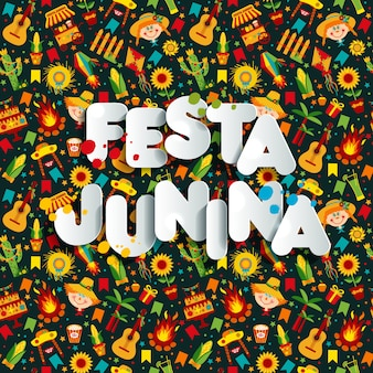 Festa junina dorpsfeest in latijns-amerika.