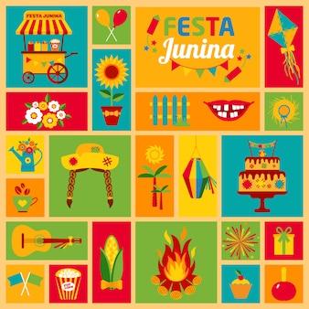 Festa junina dorpsfeest in latijns-amerika.