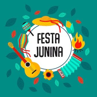 Festa junina evenement concept