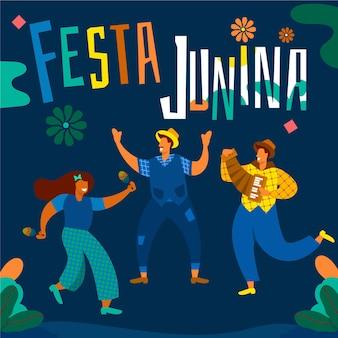 Festa junina-evenement geïllustreerd