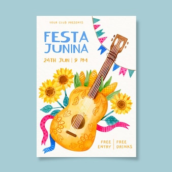 Festa junina evenement poster sjabloon