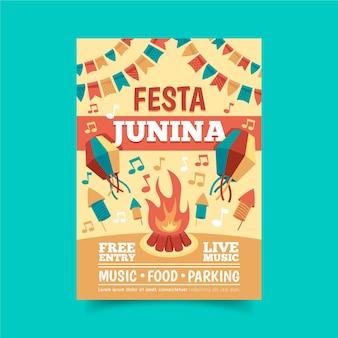 Festa junina evenementenflyer