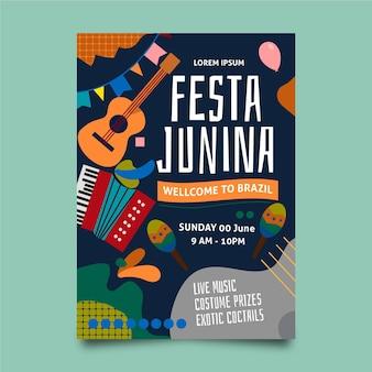 Festa junina flyer ontwerp