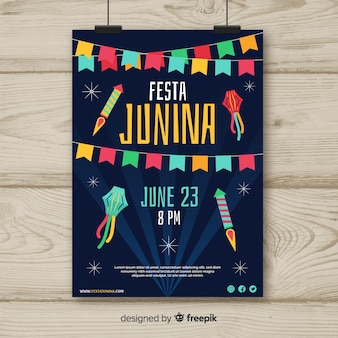 Festa junina flyer sjabloon