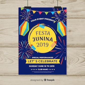 Festa junina flyer sjabloon