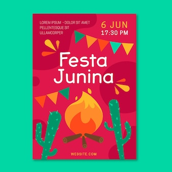 Festa junina flyer-sjabloon