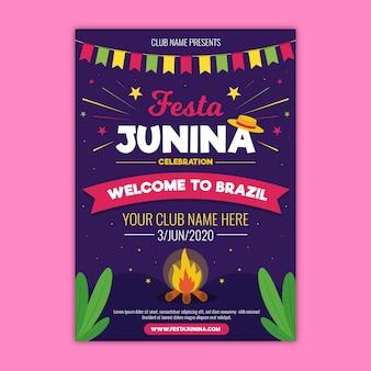 Festa junina flyer-sjabloon