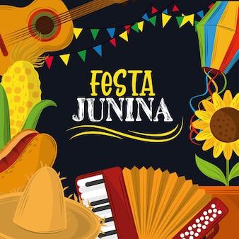 Festa junina-kaart