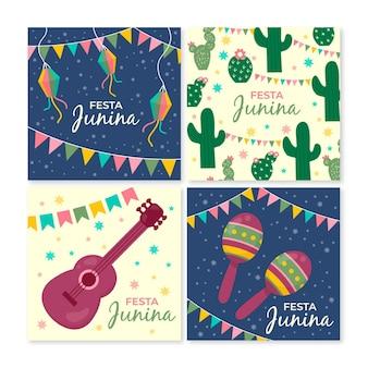 Festa junina-kaartcollectiesjabloon