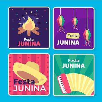 Festa junina-kaartcollectiesjabloon