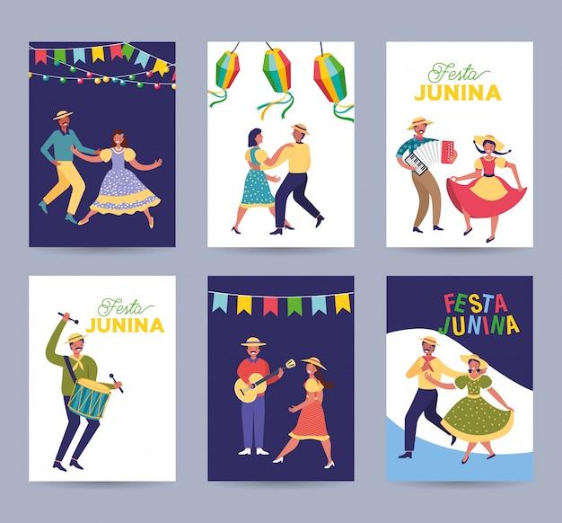 Festa junina-kaarten