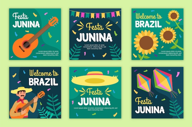 Festa junina-kaartensjabloon