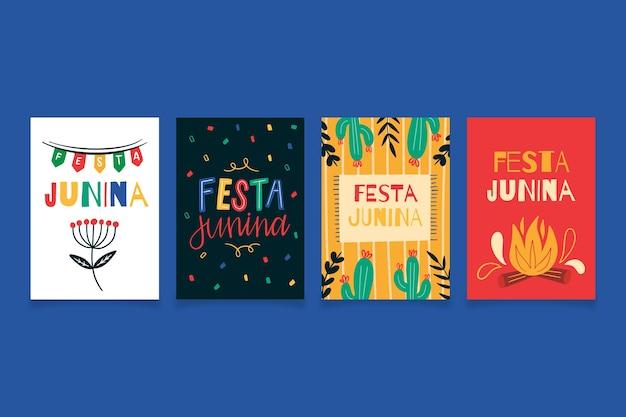 Festa junina-kaartsjabloon