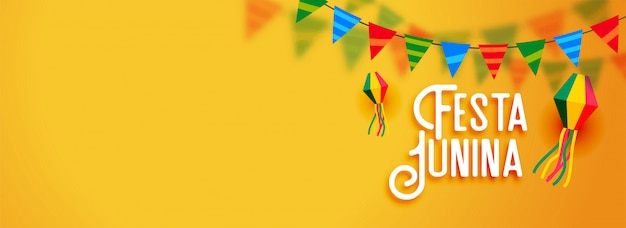 Festa junina latijns-amerikaanse vakantiebanner