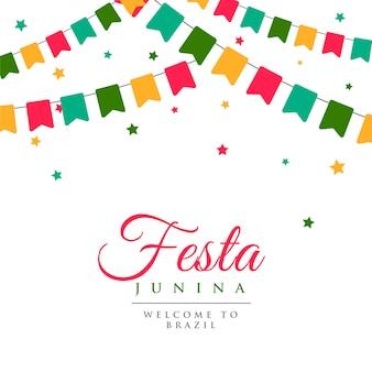 Festa junina partij carnaval achtergrond