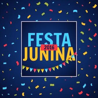 Festa junina partij festival met confetti