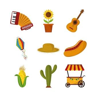 Festa junina pictogrammen