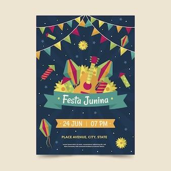 Festa junina poster sjabloon thema
