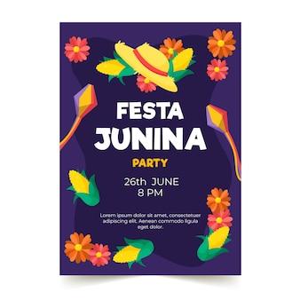 Festa junina poster sjabloon