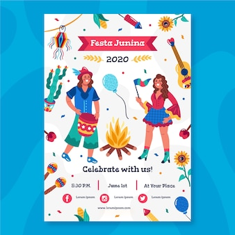 Festa junina poster thema