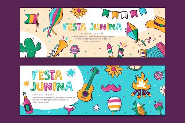 Festa junina-sjabloon voor spandoek