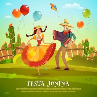 Festa junina-sjabloon