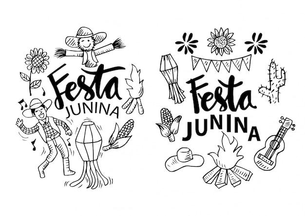 Festa junina-tekenfilms