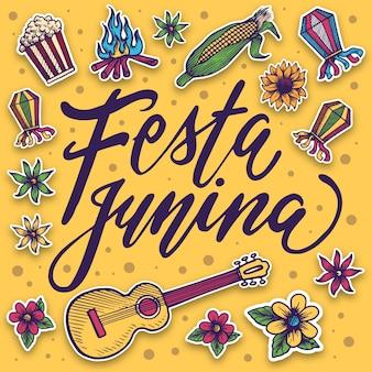Festa junina tekening