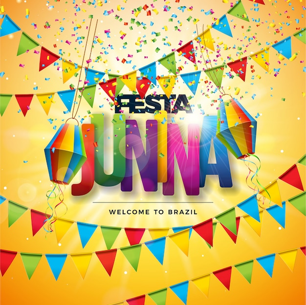 Festa junina traditional brazil festival design