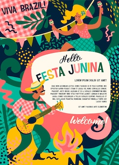 Festa junina. vector sjabloon