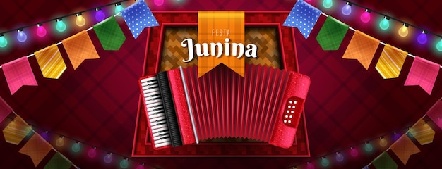 Festa junina viering bannerontwerp