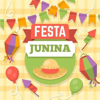 Festa junina viering ontwerp