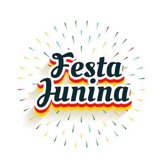 Festa junina-vieringsachtergrond met vuurwerkuitbarsting
