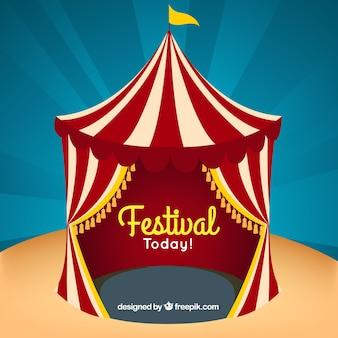Festival kaart met een grote tent
