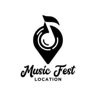 Festival muziek locatie logo